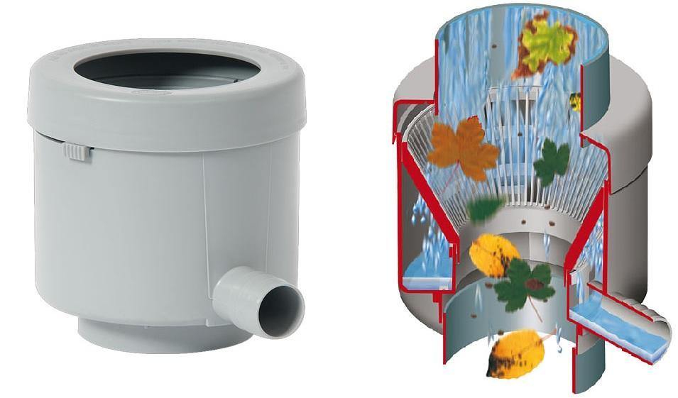 Füllautomat de luxe für DN 70-100 Fallrohr bis 80m² Dachfläche - Fallrohrautomat