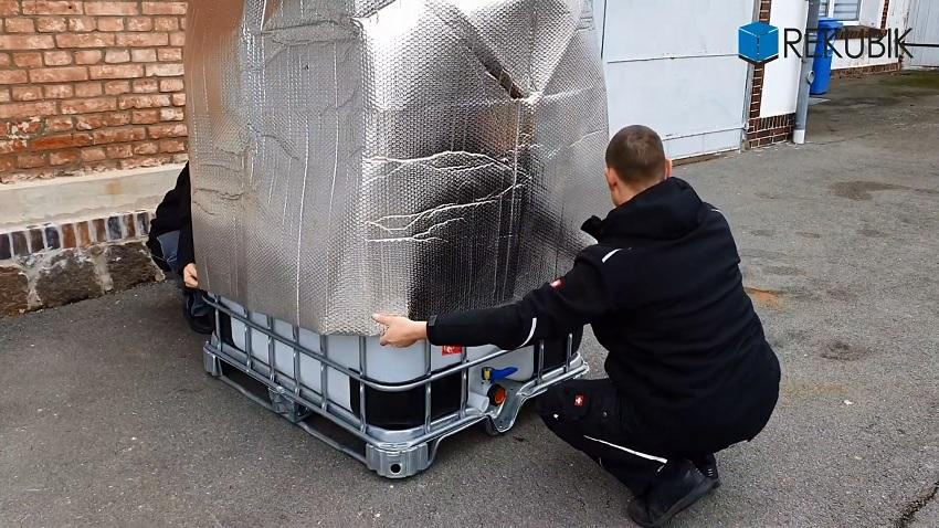 IBC Thermohaube PREMIUM geschlossen Frostschutz
