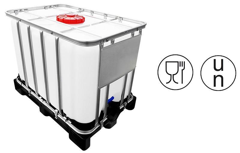 600l IBC Container UN-Zulassung auf PE-Palette NEU