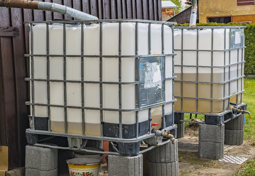 Industriecontainer als Regenwasserspeicher