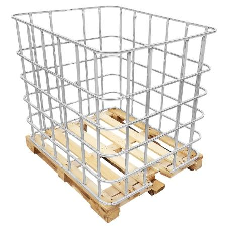 IBC Gitterbox auf Holzpalette - Gittertank