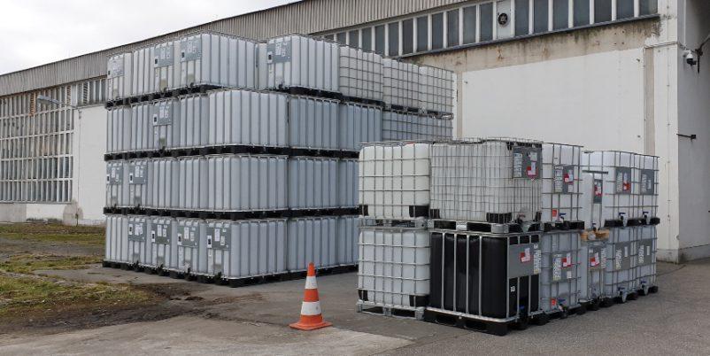 IBC Container mit Gittertank