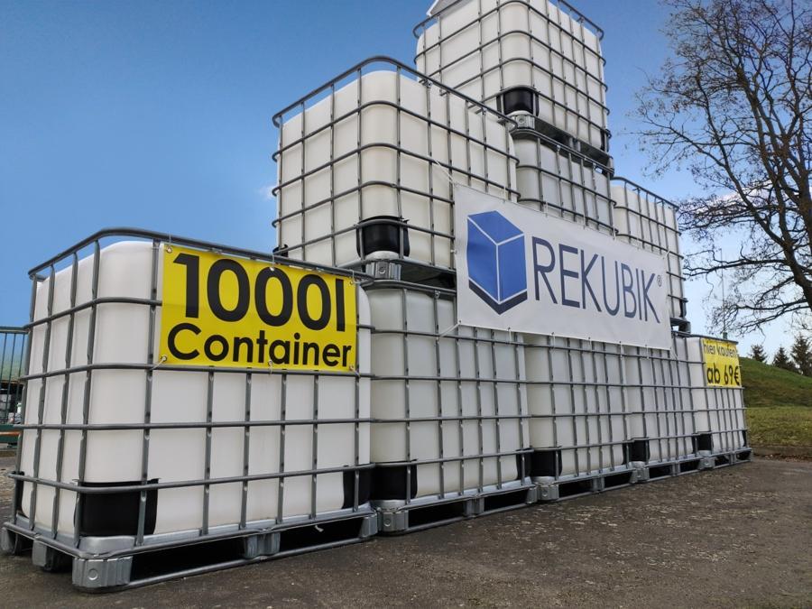 1000l IBC Wassertank (SIRUP) UNGESPÜLT auf Palette