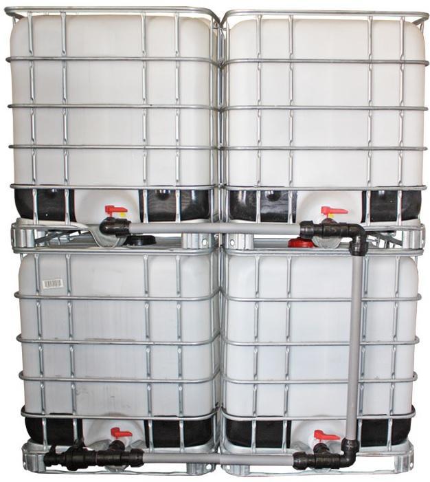 """IBC Adapter 2"""" Camlock Dose - Tankverbindung 4 IBC neben-/übereinander 50mm Rohr - Verschraubungen für den IBC-Container"""