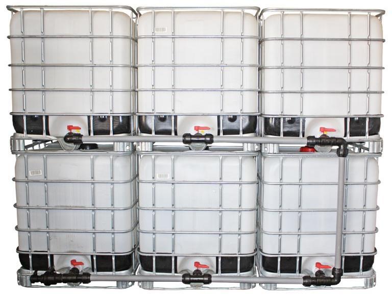 IBC Adapter S60x6 - Tankverbindung 2 IBC nebeneinander 32mm Schlauch - IBC Container verbinden: mit Anleitung