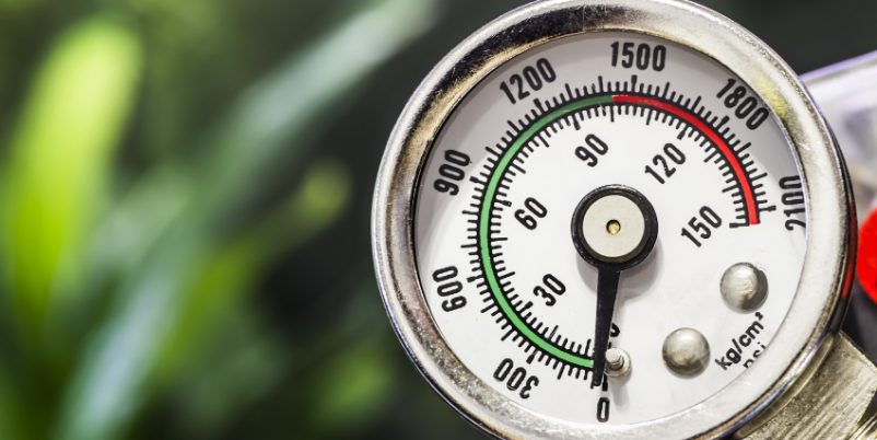 Manometer - Wasserdruck im IBC