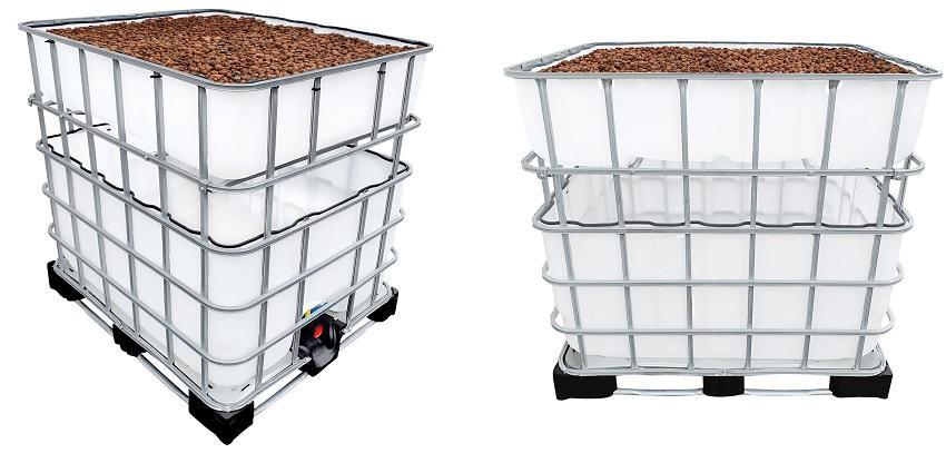 600/200l IBC Hochbeet Urban Farming Speicher +SET
