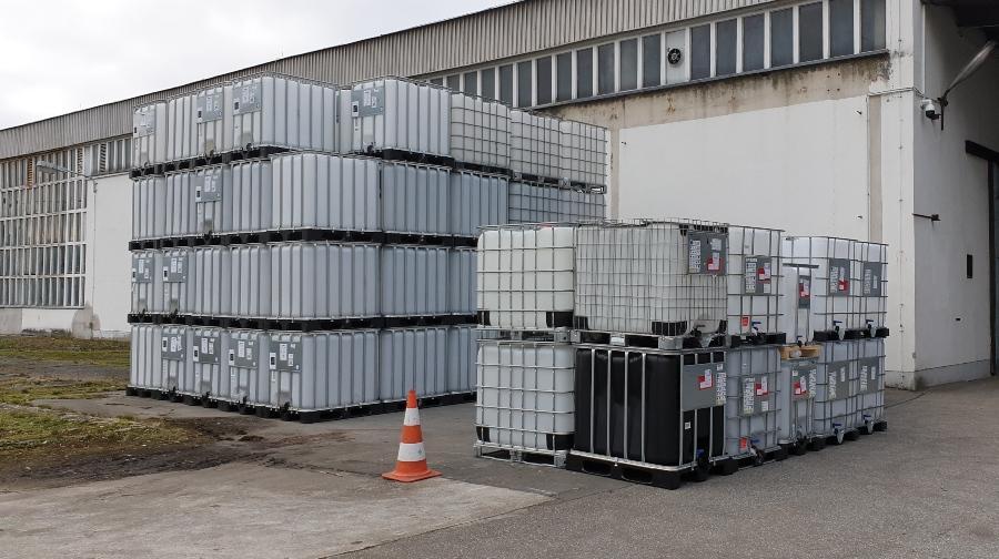 Gebrauchte rekonditionierte IBC als Wassertank oder Regentonne