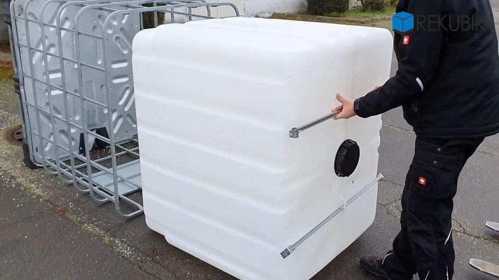 IBC Container auf Stahlpalette NEU