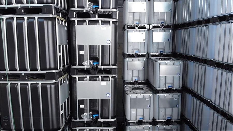 600l IBC Container SCHWARZ auf PE-Palette NEU - IBC-Container in Zahlen
