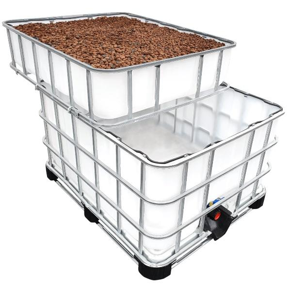 600/200l IBC KUBIKGARDEN Hochbeet Modern Farming Speicher +SET - Cycle-Farming