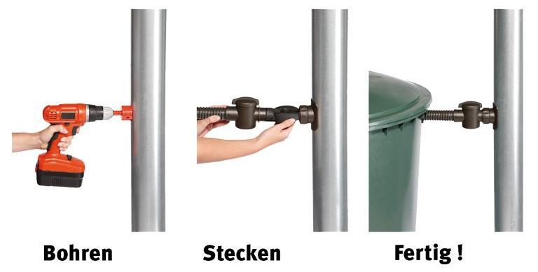 SPEEDY Regensammler für DN 70-100 Fallrohr bis 80m² Dachfläche - Regenwasseranlage mit IBC-Technik