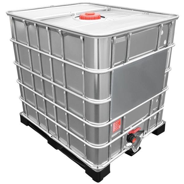 1000l IBC Container mit Stahlmantel auf PE-Palette NEU | Leergewicht: 65 kg