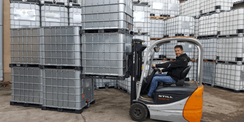 IBC Container - Transport und Verwendung als Prozesstank