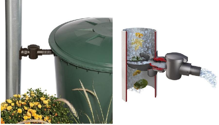 SPEEDY Regensammler für DN 70-100 Fallrohr bis 80m² Dachfläche - Regenwasserfilteranlage für Haus und Garten