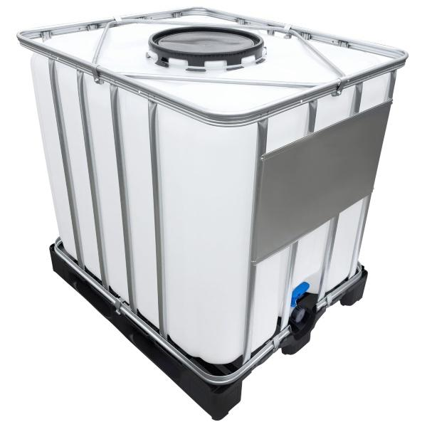 1000l IBC Container (Mannloch DN 400) auf PE-Palette NEU - IBC als Food-Tank