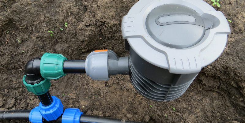 Unterirdisches Wassersystem mit Wassersteckdose
