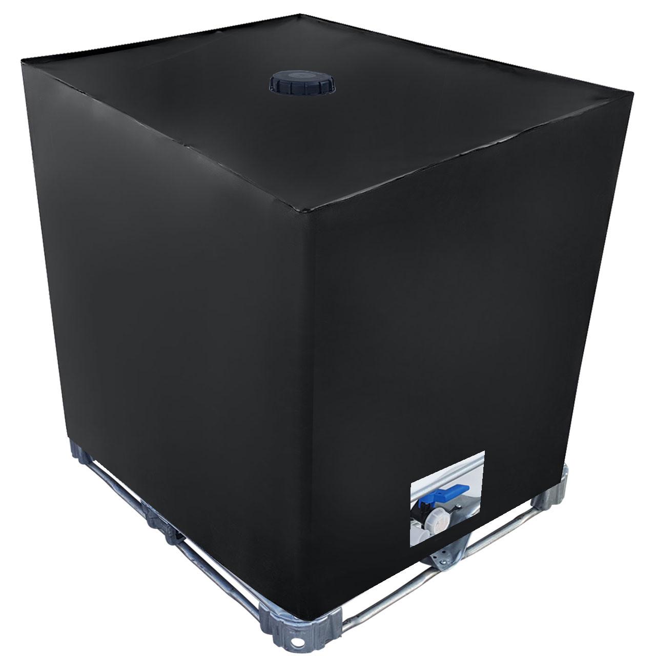 ibc cover uv schutz folie mit lochauschnitt in schwarz. Black Bedroom Furniture Sets. Home Design Ideas