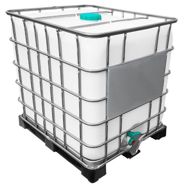 1000l IBC Container GESPÜLT aus Lebensmittelindustrie auf Kunststoffpalette