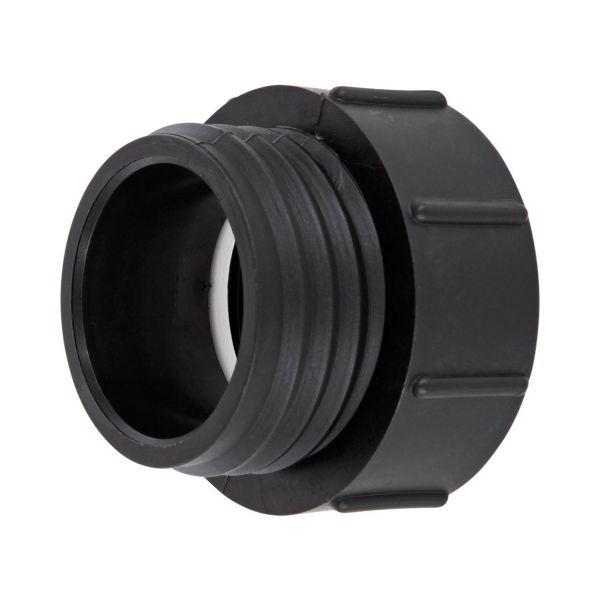 """IBC Container Adapter BSP 2"""" (60mm) Feingewinde - Reduzierung S60x6 (60mm) Grobgewinde DN 50 Außengewinde"""