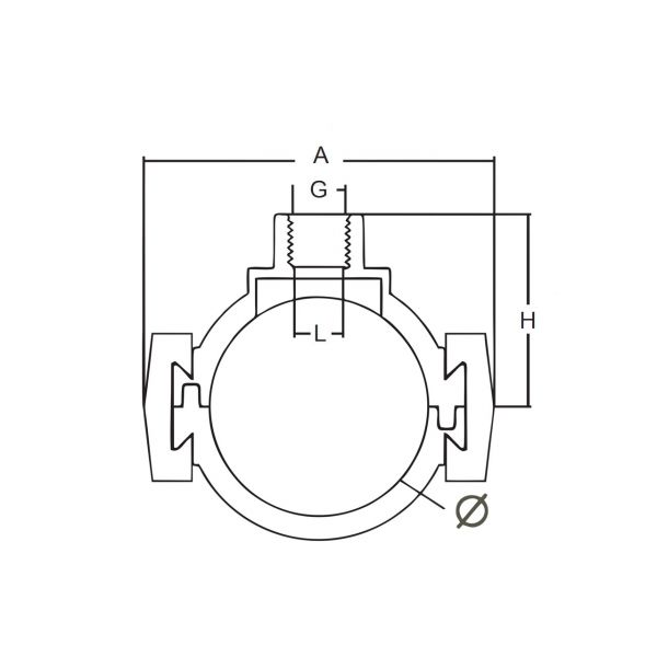Vorschau: Anbohrschelle mit Innengewinde Schnellverschluss