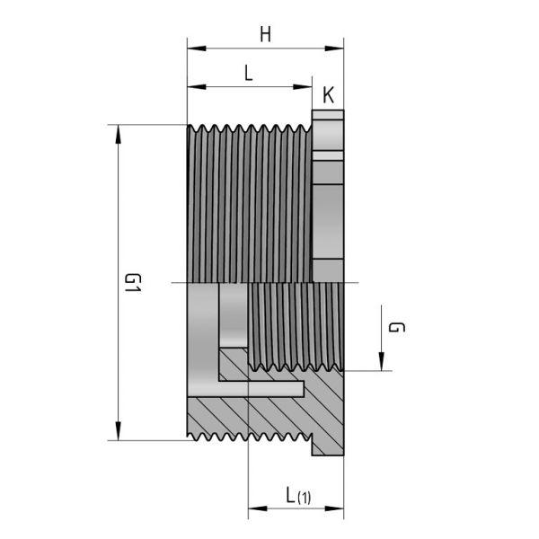 Vorschau: PP Gewindefitting Gewindeverschraubung Reduzierring Busching Fitting Außengewinde x Innengewinde mit O-Ring
