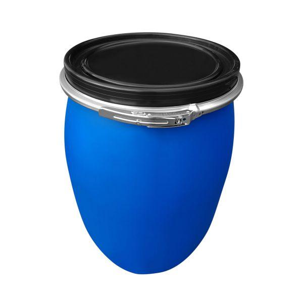 120 Liter Deckelfass Weithalsfass mit PE Spannring UN-X