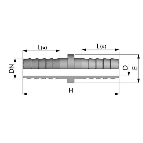 Vorschau: Schlauchverbinder 2-fach Schlauchtülle