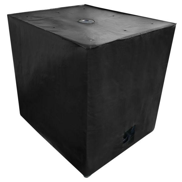1000l IBC Container Cover UV-Schutz Gewebe mit Klettverschluss in Schwarz