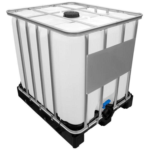 1000l IBC Wassertank Ungespült (Sirup Reste) auf Kunststoffpalette