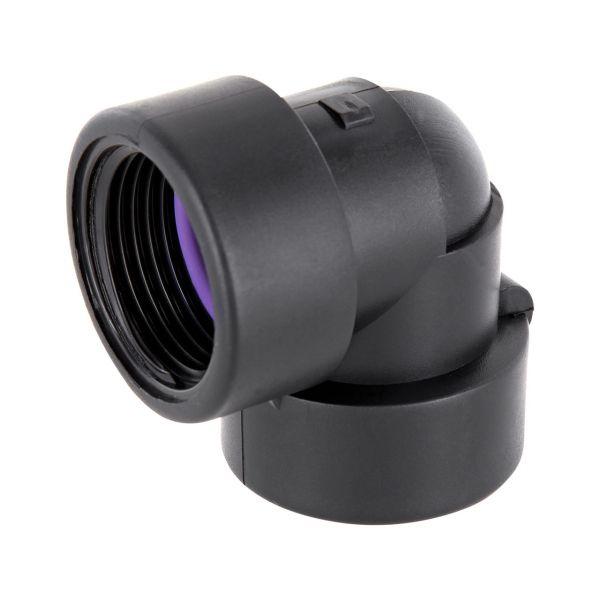 PP Gewindefittings Gewindeverschraubung Winkel 90° Fitting 2x Innengewinde mit O-Ring