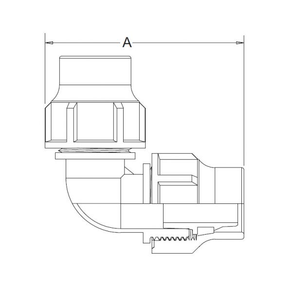 Vorschau: Winkel 90° Lock-Quick x Lock-Quick