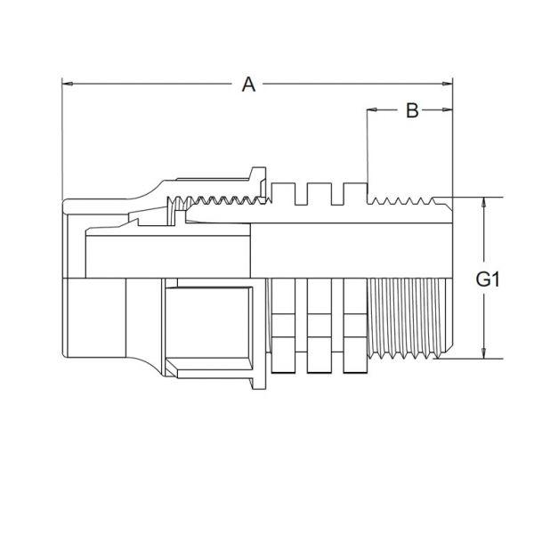 Vorschau: Übergangsmuffe Lock-Quick x Außengewinde