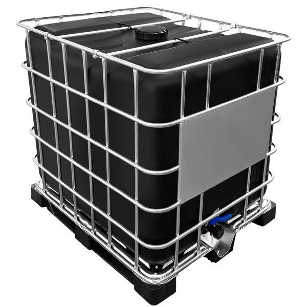 1000l IBC Wassertank SCHWARZ GESPÜLT auf Palette