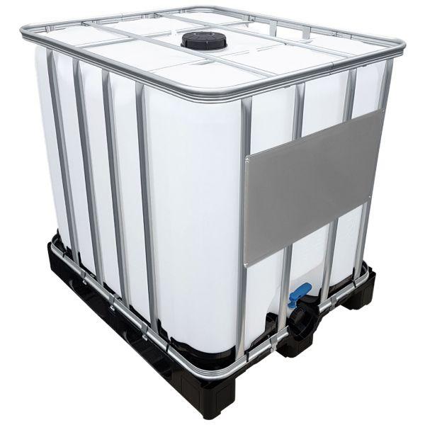 1000l IBC Container Wassertank auf Kunststoffpalette UNGESPÜLT (SIRUP)