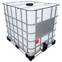 1000l IBC Container REBOTTLED auf Stahl/PE-Palette