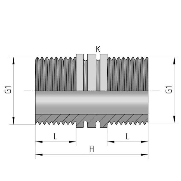 Vorschau: PP Gewindefittings Gewindeverschraubung Doppelnippel Fitting 2x Außengewinde mit O-Ring
