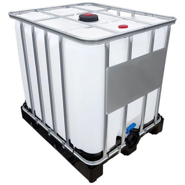 1000l IBC Container für AdBlue® mit CDS-Entnahme auf Kunststoffpalette NEU