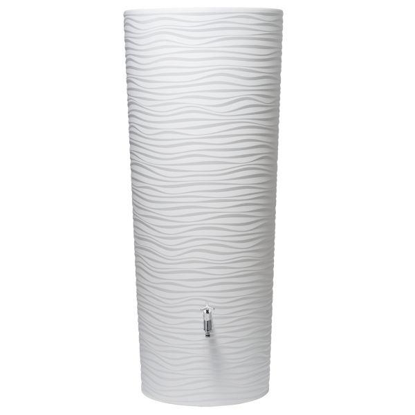 350l Regenspeicher Regentonne Wassertank NATURA 2in1 mit Pflanzschale in artic von GRAF