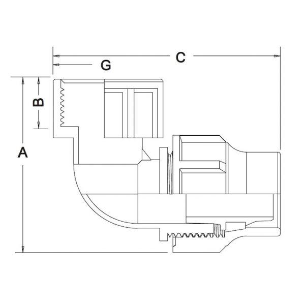Vorschau: Winkel 90° Lock-Quick x Innengewinde