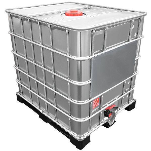 1000l IBC Container mit Stahlmantel NEU auf Kunststoffpalette