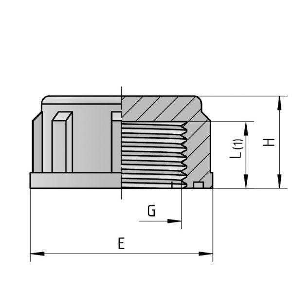 Vorschau: PP Gewindefittings Gewindeverschraubung Gewindekappe Fitting Innengewinde mit O-Ring