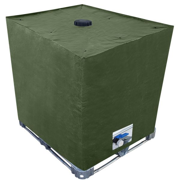 IBC Container Algenschutz PP/PE-Gewebehaube als Cover Schutzhaube in Grün
