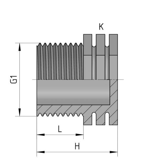 Vorschau: PP Gewindefittings Gewindeverschraubung Endkappe Fitting Außengewinde mit O-Ring