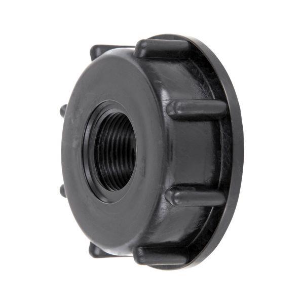 """IBC Adapter S60x6 (60mm) Grobgewinde DN 50 - Hahn Kappe mit 3/4"""" Innengewinde IBC Container Reduzierung"""