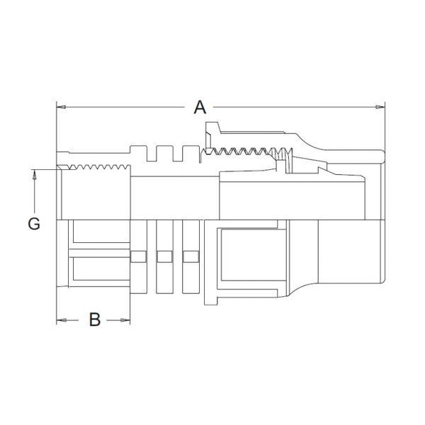 Vorschau: Übergangsmuffe Lock-Quick x Innengewinde