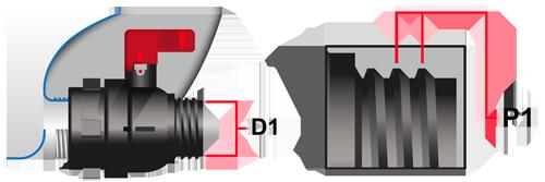 IBC Container S60x6 Grobgewinde DN50 Alveolit PE-Schaumdichtung Ersatzdichtung