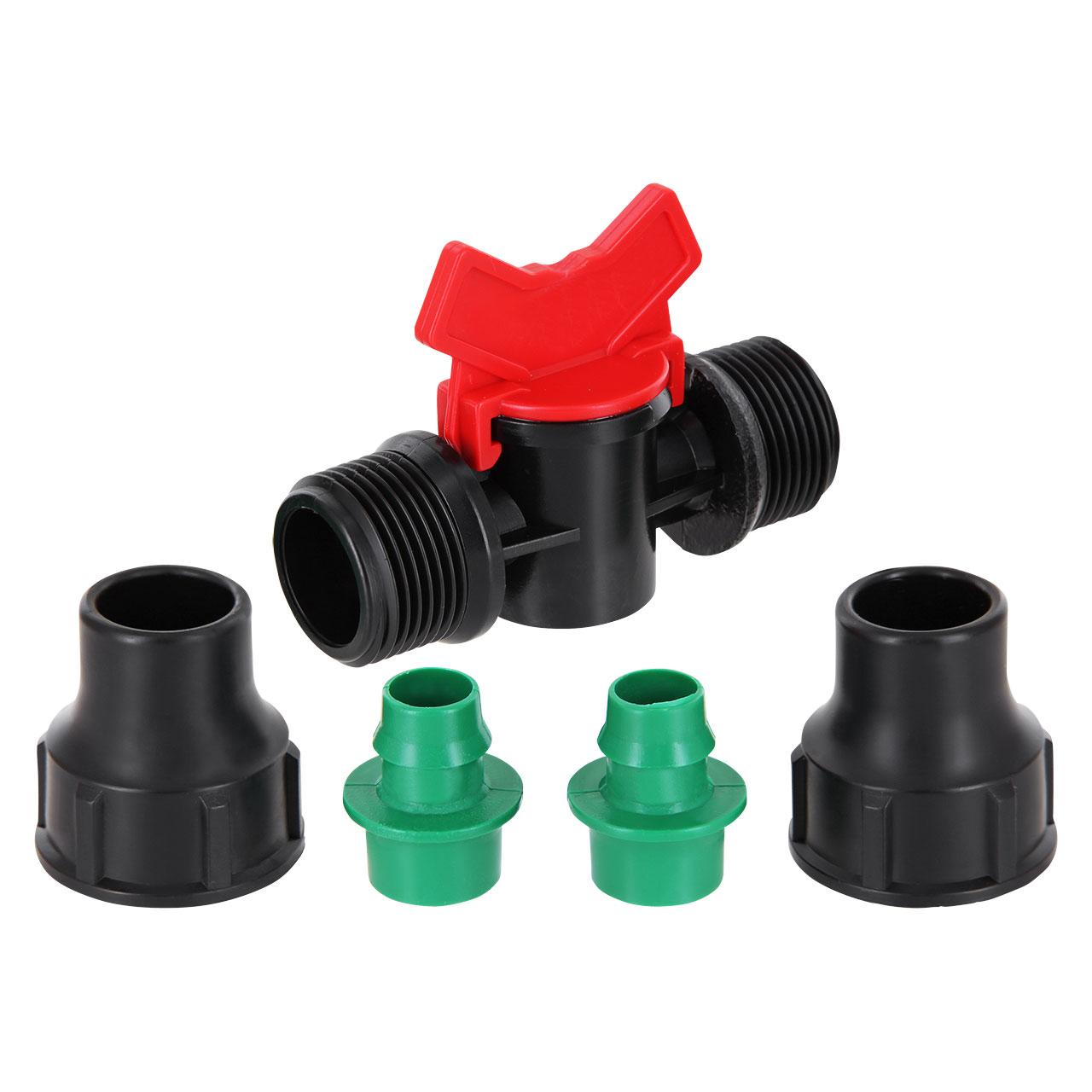 Absperrhahn Außengewinde x Lock-Quick Fitting System Lock für PE Rohr PN4
