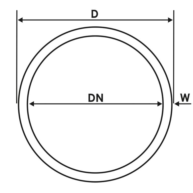 SCHÜTZ Flanschdichtung DN50 EPDM für Hahn DN50 mit Alu Aufsatzgewinde